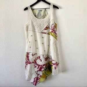 Anthropologie Leifnotes patch asymmetrical dress